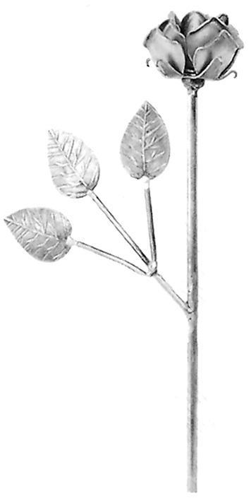 feuilles et fleurs en fer forge