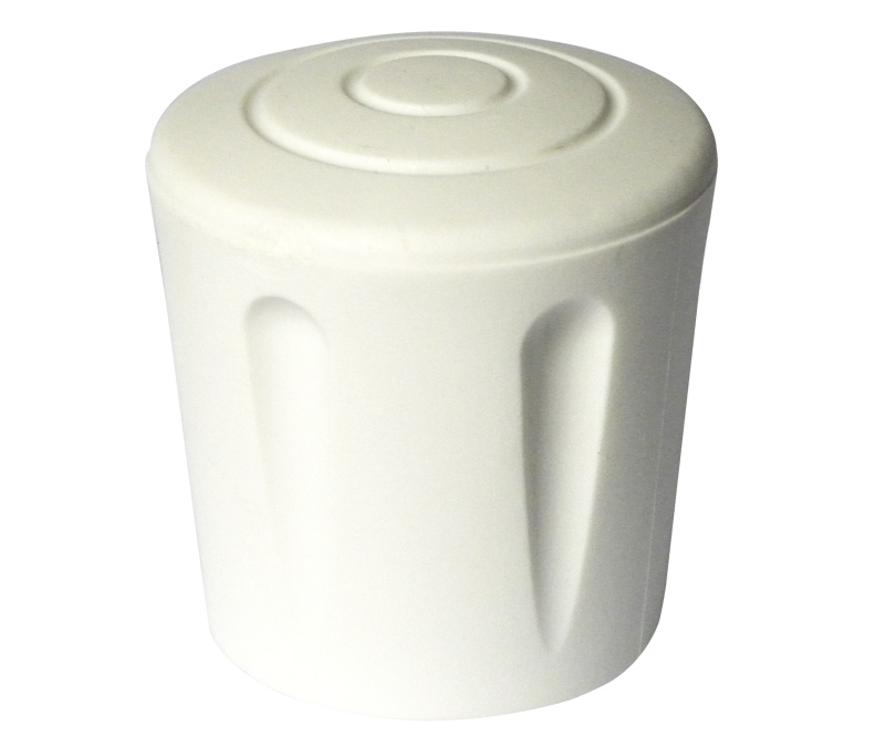 fiche article e4628b embout caoutchouc blanc enveloppant renforc pour tube rond 28mm. Black Bedroom Furniture Sets. Home Design Ideas