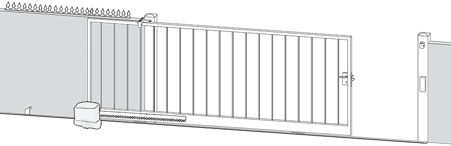 bricometal ferronnerie et accessoires pour portails. Black Bedroom Furniture Sets. Home Design Ideas