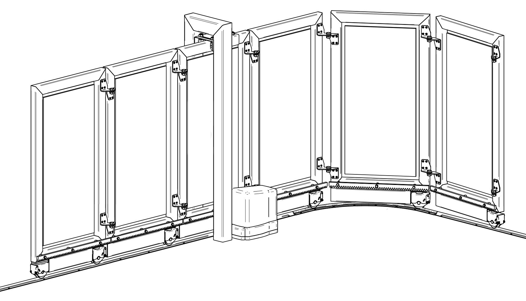 Fiche article : KA10.10, KIT pour portail à courbe  Vantail